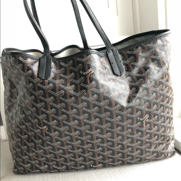 Goyard Bags   Ine Saint Louis Pm Black   Poshmark ee73435a823